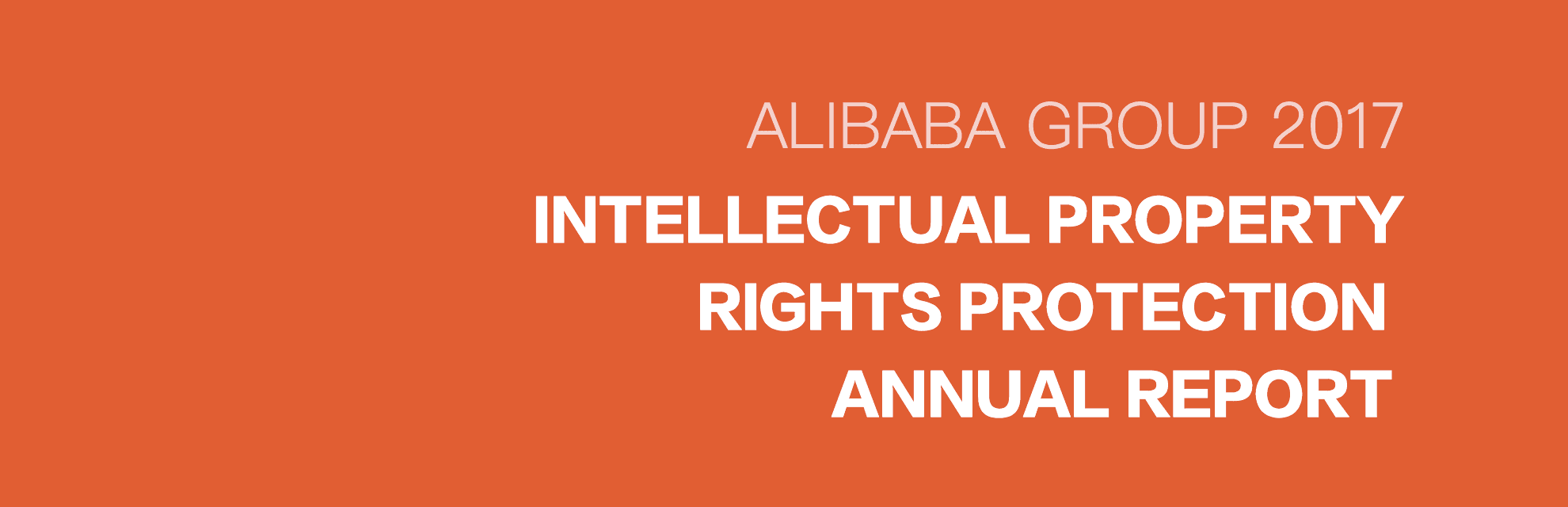 Alibaba Group 2017  Intellectual Property Rights Protection Annual Report