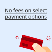No fees on select payment options