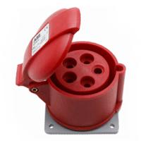 ABB工业连接器 五极32A 432RU6 工业插座 防溅型IP44;10091807