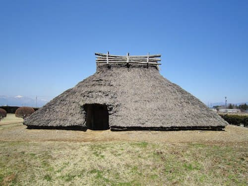 Hira-ide Historic Site Park reconstructed Kofun period (600 AD) house
