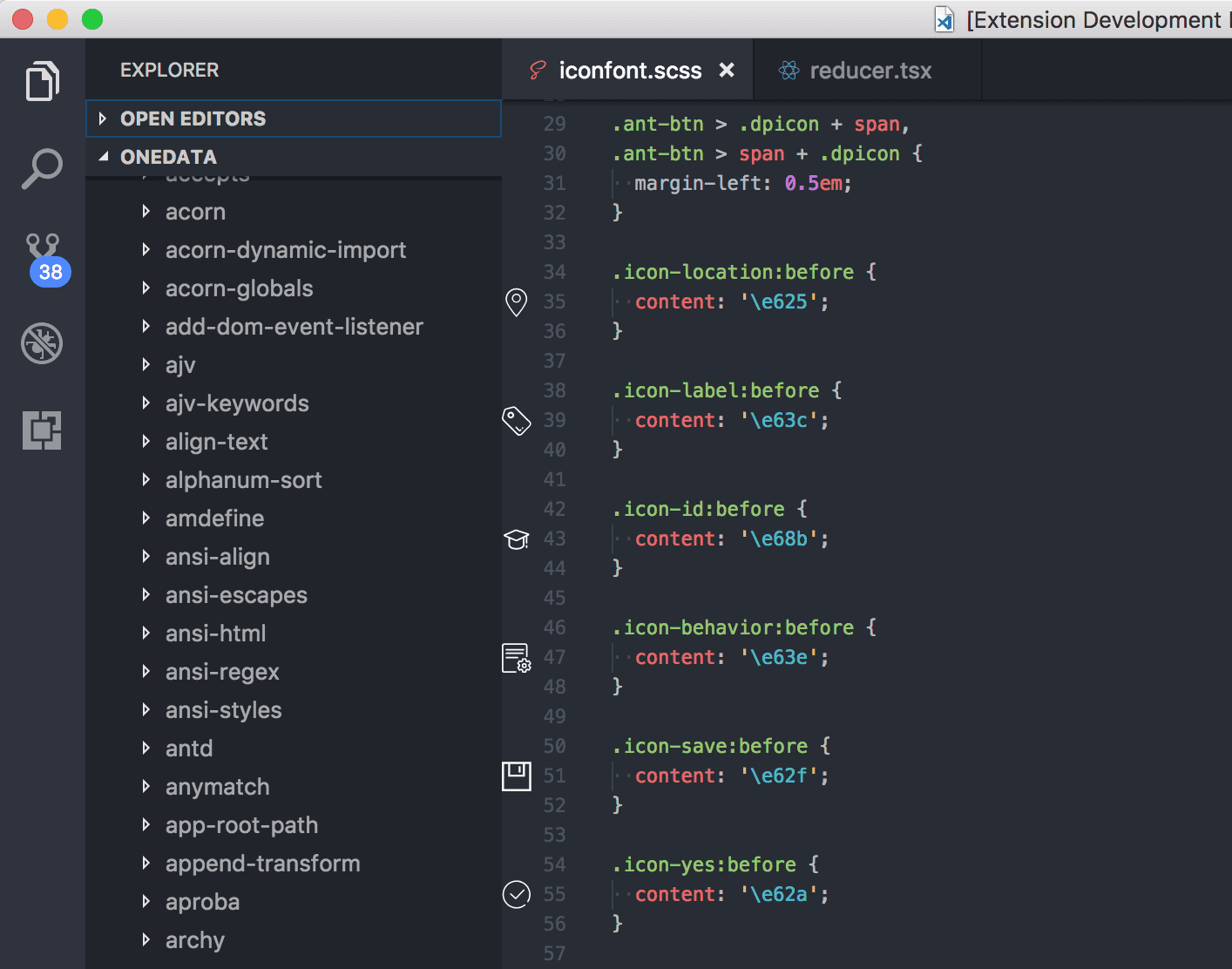 vscode iconfont preview