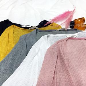 采多宝大码女装2018胖mm夏装新款薄款显瘦荷叶袖开衫防晒衣A6179