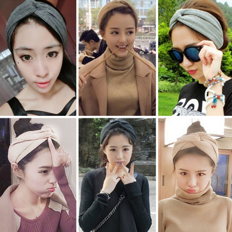 Specifications of Candy Online Korean Headband Elastic Turban Head Wrap  Knotted Hair Style (Black) f7229fb1f2e