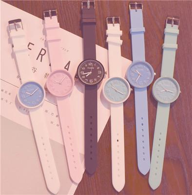 糖果石英手表