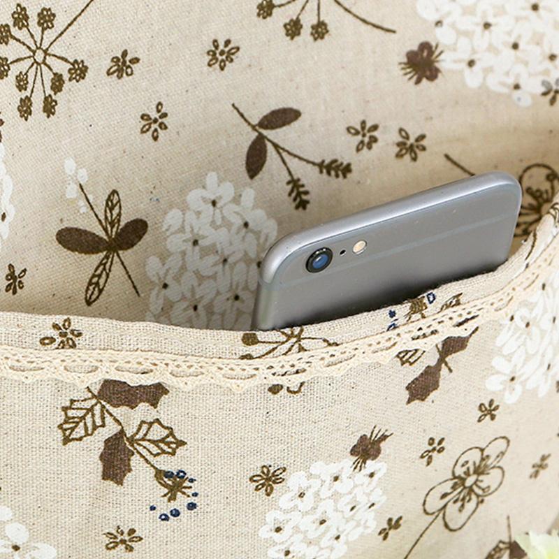 布艺多层收纳袋置物袋挂袋墙壁挂件装饰品厕所门后整理袋