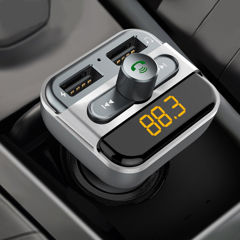 Modern car mp3 player car fast charge speakerphone receiver does not support