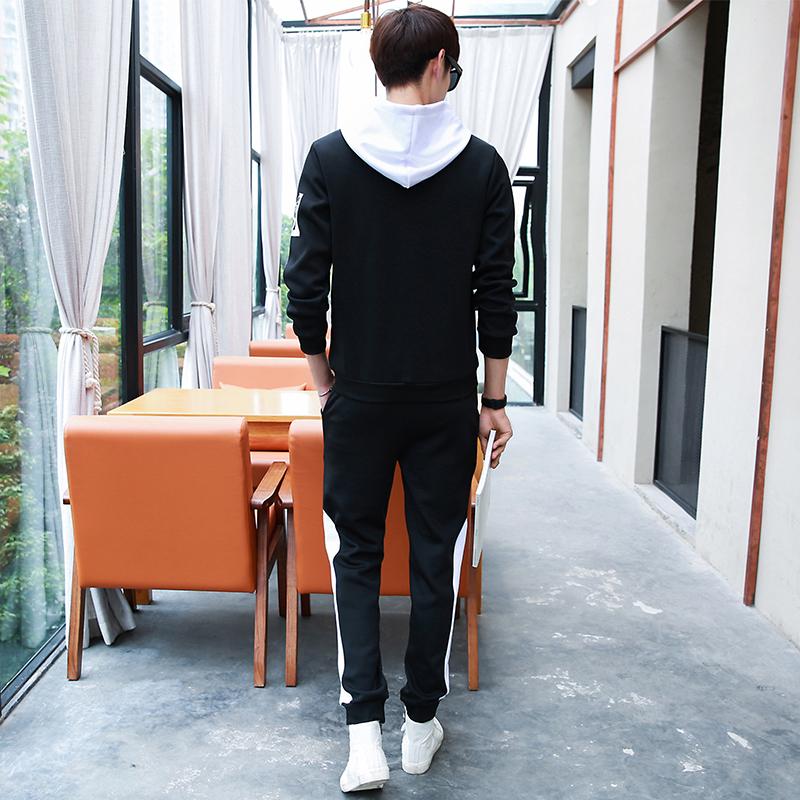 春季学生薄款长袖卫衣长裤一套装青少年夏天外套春天运动衣服装男