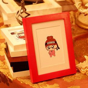 包邮摆台相框日式简约橡木6寸7寸原木色像框画框 挂墙实木相框