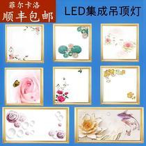 led花灯30X45X60图案铝扣板吸顶嵌入式厨房LED平板灯集成吊顶灯