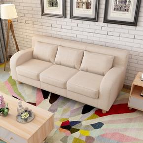 简约布艺组合双人现代小户型客厅单三人位美式卡座组合咖啡厅沙发
