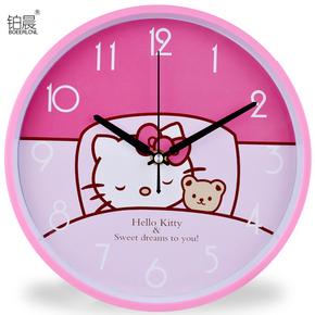 十字绣钟表 卧室 简单 可爱钟表 挂钟 客厅?简约 大气