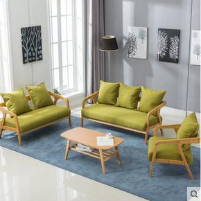 商务接待沙发组合沙发茶几办公室客厅小型休闲沙发简约会客室单人