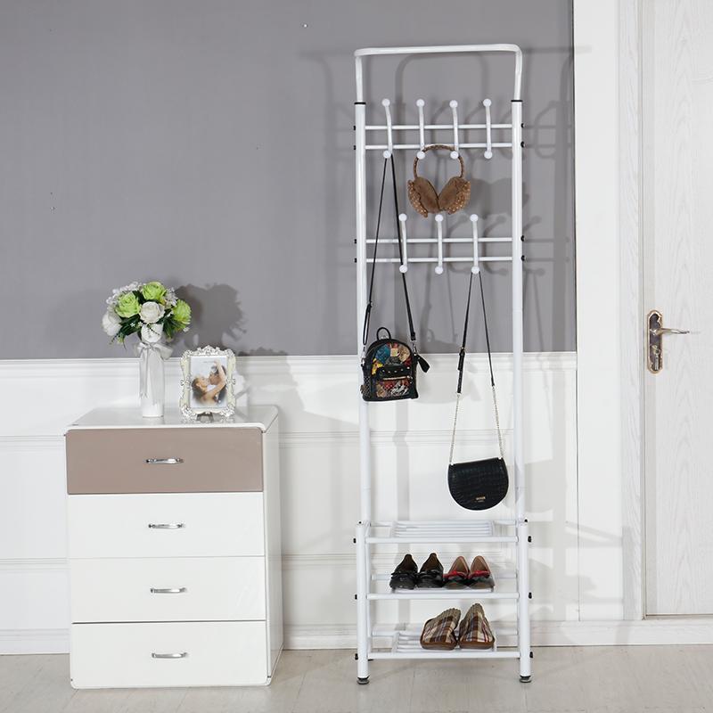 个性衣架子门口挂衣架带鞋柜创意简易学生加宽卧室展示架立体