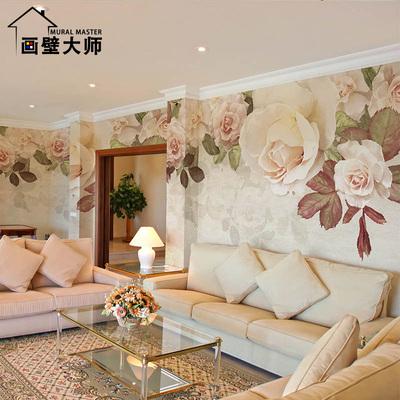 温馨美式复古怀旧田园玫瑰花墙纸客厅卧室电视背景墙壁纸艺术壁画销量排行