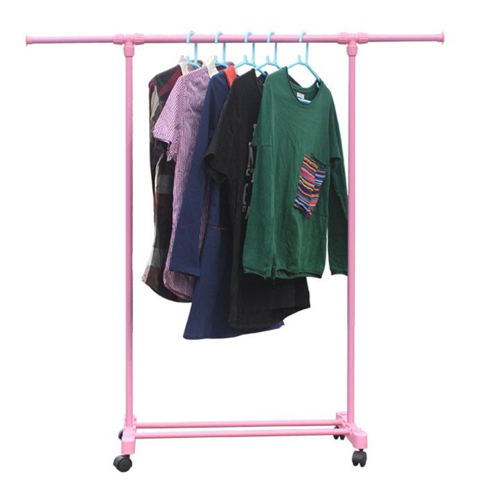 落地衣帽架卧室伸缩晾衣架室内阳台挂衣架简易折叠晒衣杆晾衣杆