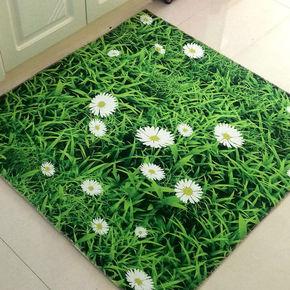 创意绒面鹅卵石防滑垫3D立体地垫卧室客厅走廊茶几印花地毯