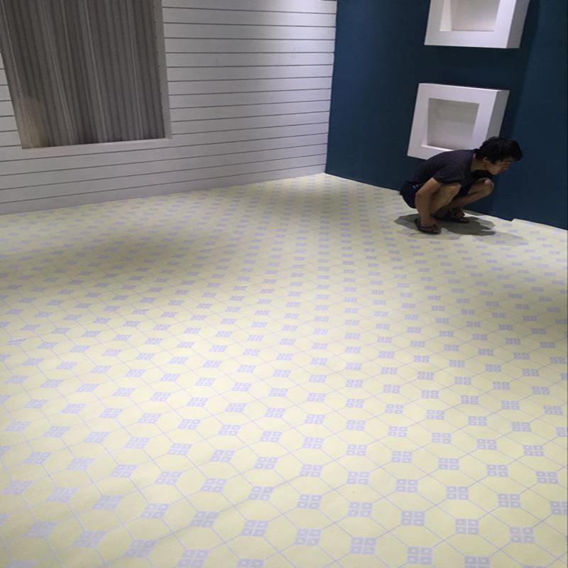 塑胶地砖自粘地板加厚耐磨防水免胶石塑地板帖家用商用木纹地胶帖