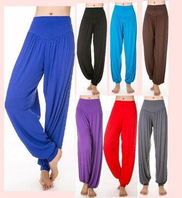 灯楼裤女收口灯笼裤太极裤舞蹈裤运动服瑜伽服女