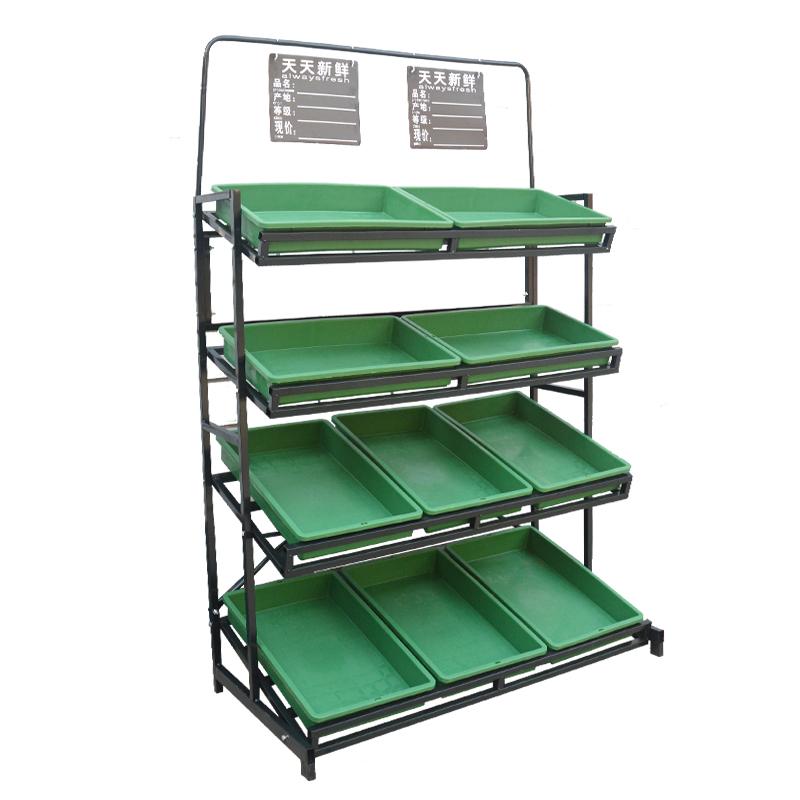 货架蔬菜水果店实展示架子包邮二层三层质两层果蔬超市