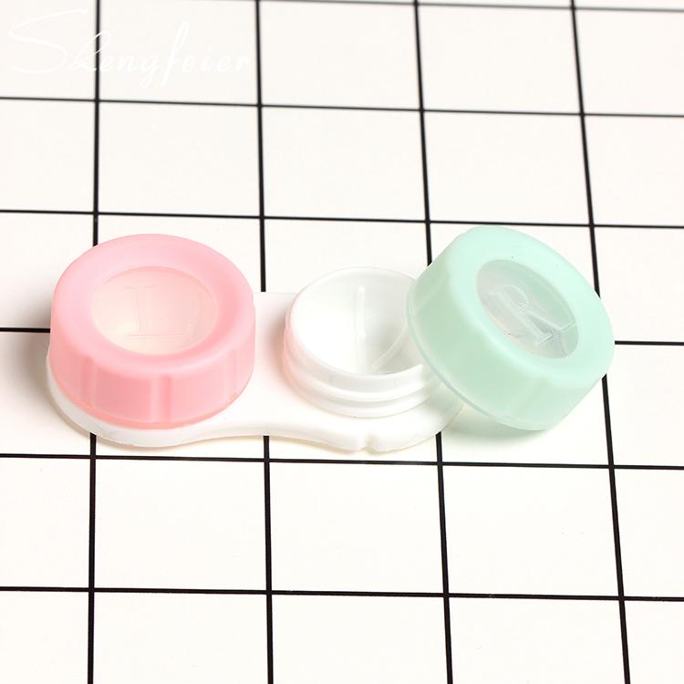 2幅装水果PP盒护理隐形眼镜盒近视盒 美瞳盒双联盒 隐形眼镜盒