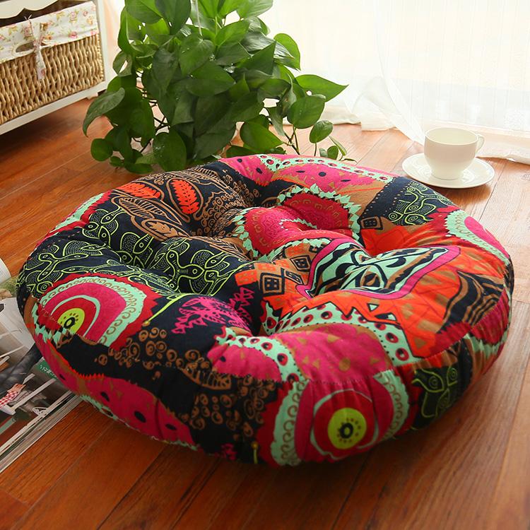 大拜垫瑜伽圆形地板飘窗打坐垫亚麻蒲团茶道蒲垫禅修