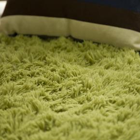 床边地毯卧室客厅纯色长毛毛绒方形家用小地毯公主粉色灰色定制