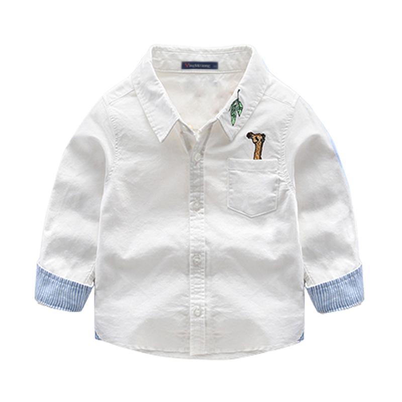 纯棉季新宝宝衬衣男童全棉新款条纹长袖春季棉条2017衬衫潮装