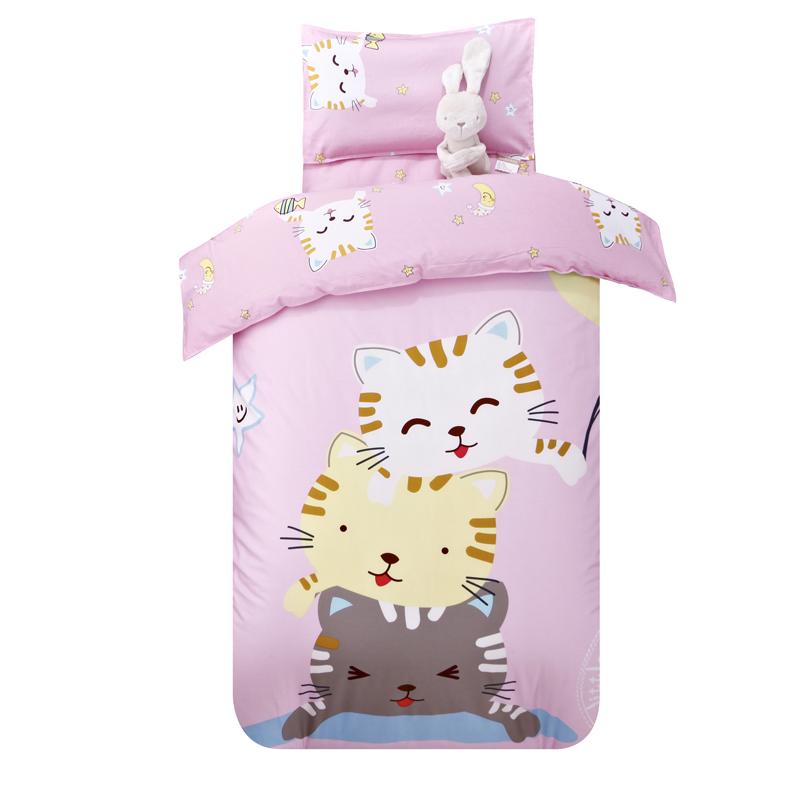 幼儿园被子三件套纯棉含芯宝宝入园床品单人1.2m儿童午睡六件套