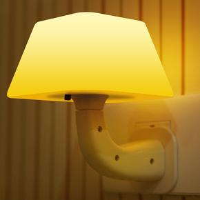 创意感应节能卧室声控光控LED喂奶蘑菇灯 床头智能婴儿插电小夜灯
