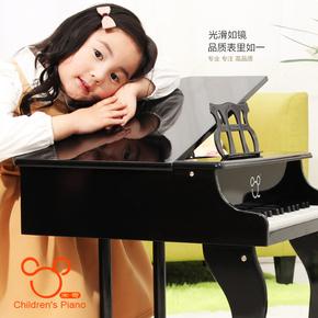 米奇儿童玩具钢琴木质男女宝宝玩具30键机械小钢琴启蒙乐器可弹奏