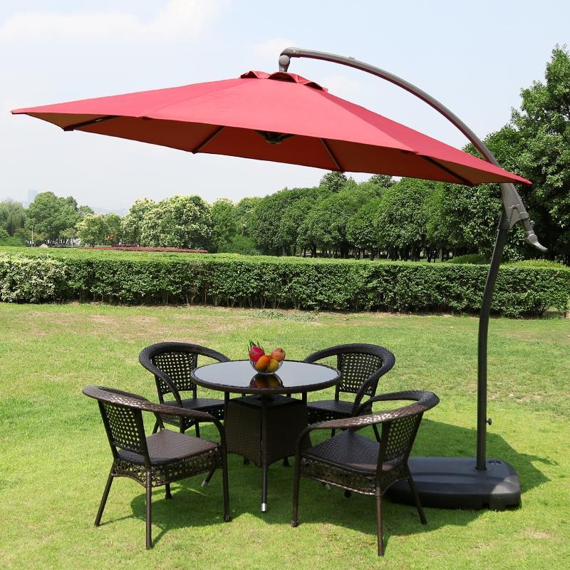 防腐户外遮阳伞桌椅组合庭院阳台上桌椅室外休闲藤椅茶几花园家具