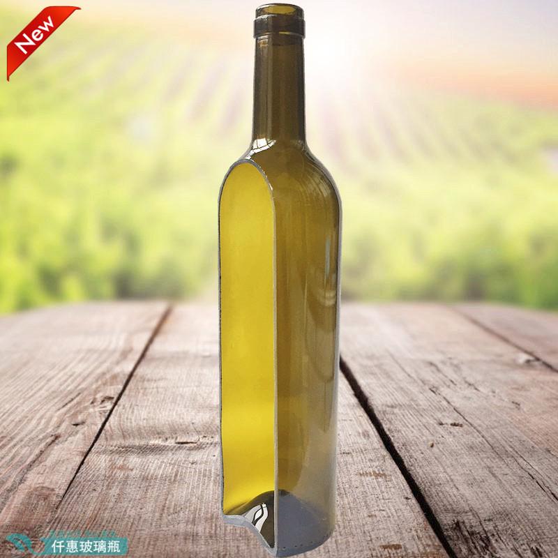切割玻璃瓶灯罩蜡烛台酒吧吊灯果盘花瓶装饰摆件彩色红酒瓶打孔雕