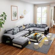 全套客厅家具套装组合实木欧式转角皮布艺沙发电视柜茶几餐桌椅