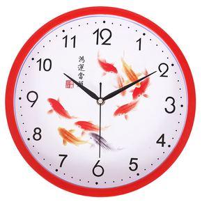 墙壁电子钟电子带卧室电装饰夜光潮流家用时钟挂钟客厅十字绣超大