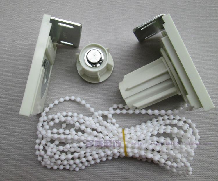 四方头卷帘配件支架拉姆斯办公升降窗帘安装码上轴控制器密珠