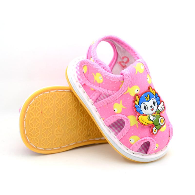 0-1-2岁宝宝手工布鞋夏季男女儿童千层底学步鞋婴儿凉鞋软底防滑