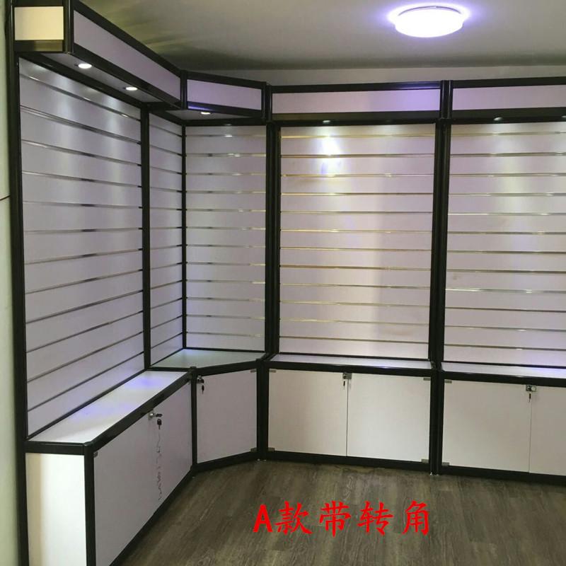 手机配件展示柜展示架内衣货架精品展柜饰品柜汽车挂件槽板配件柜