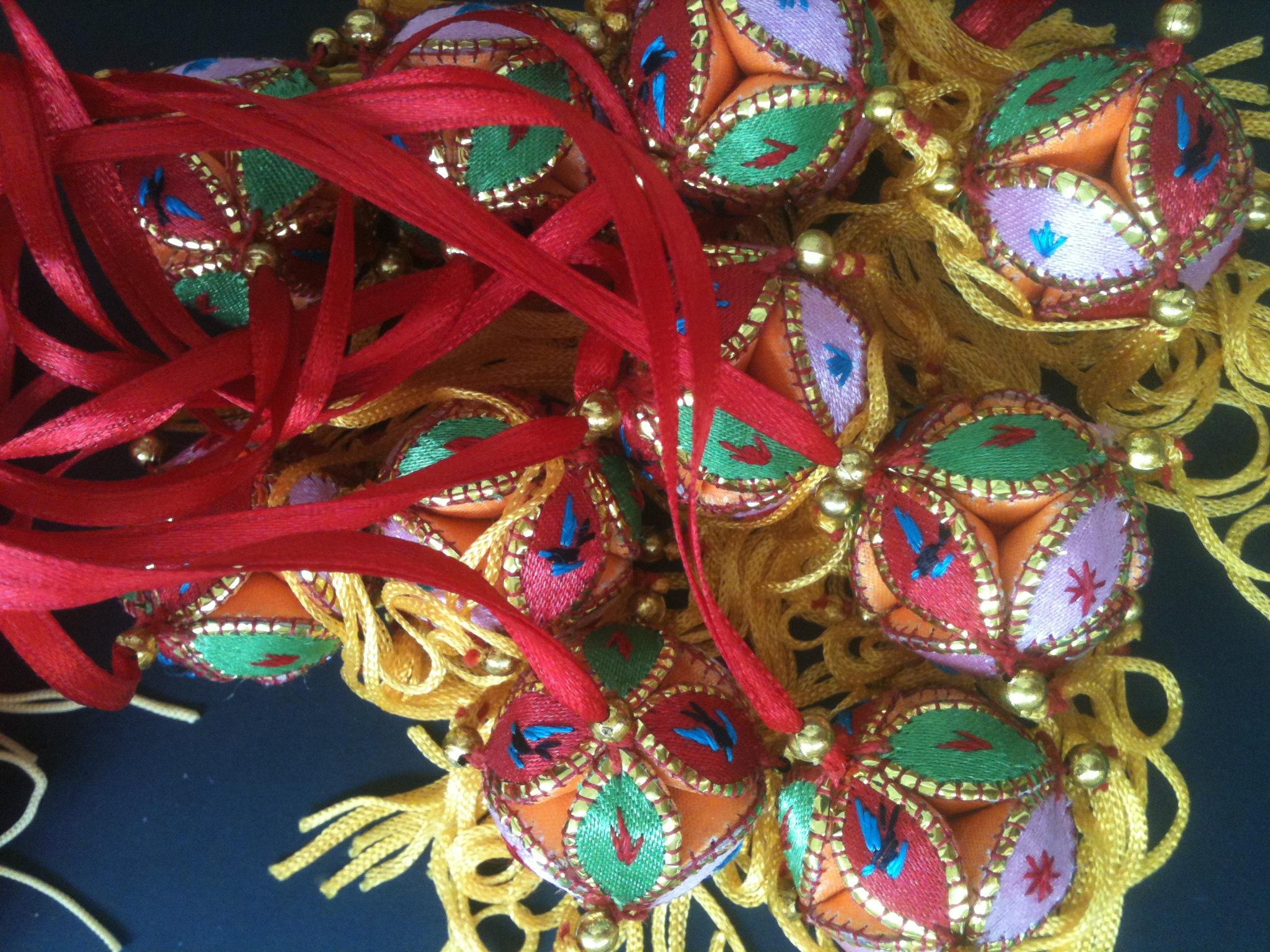 2CM广西绣球 婚庆用品 包包挂件把玩活动道具 生日礼物 壮族绣球