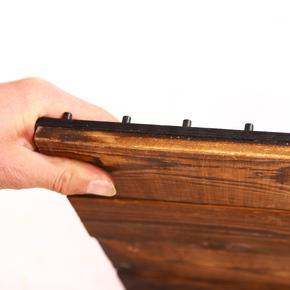 塑木松木户外地板 花园浴室 阳台露台防水防腐DIY拼接木地板包邮