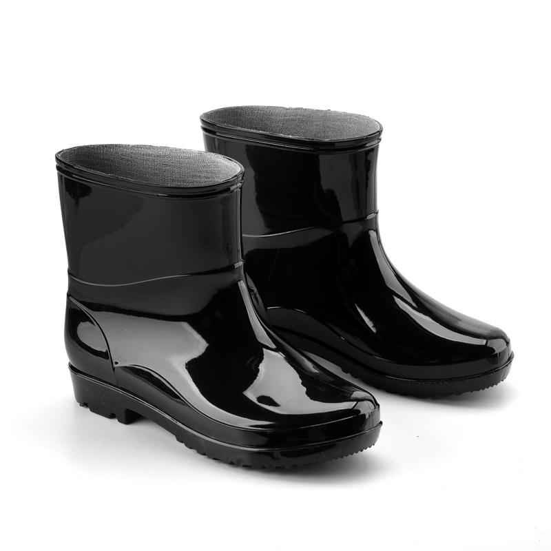 洗车便鞋低腰摩托车雨靴休闲高筒雨鞋号厨师夏天长男童休闲鞋防砸