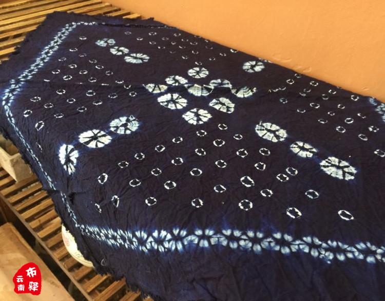 云南大理纯手工扎染布头巾方巾桌布餐垫杯垫(53cm×53cm)