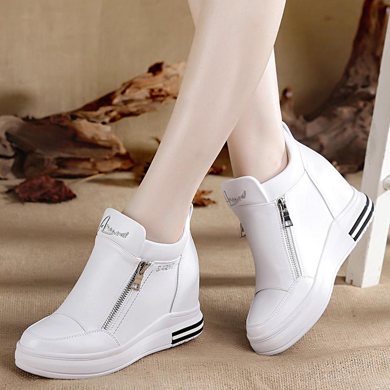 增高运动鞋女款白