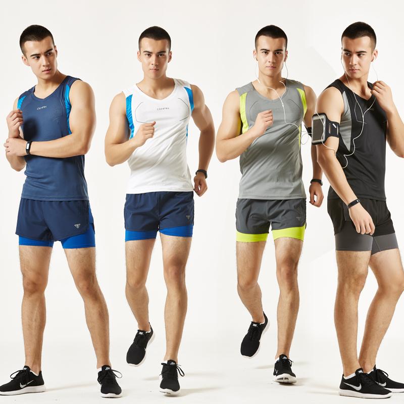 男女户外运动套装夏季田径服健身跑步马拉松比赛训练短袖短裤速干