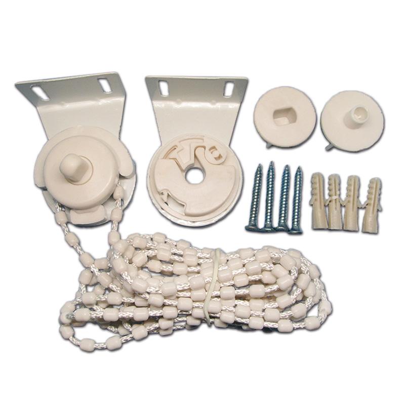 新卷帘配件铁头加粗拉绳子控制器手拉链珠窗帘滑轮扣布百叶固定支