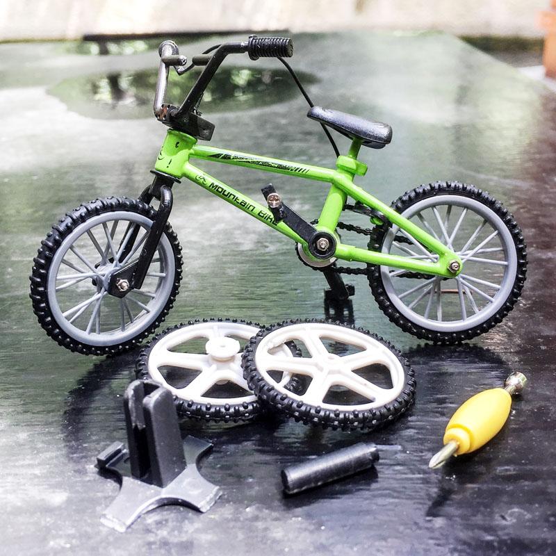 仿真自行车模型摆件DIY拼装合金自行车模型迷你共享单车模型玩具