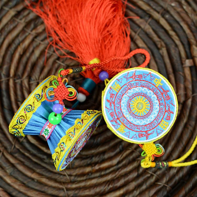 手工艺品布艺壮族民间民族 壮锦壮绣广西铜鼓 传统创意礼品 包邮