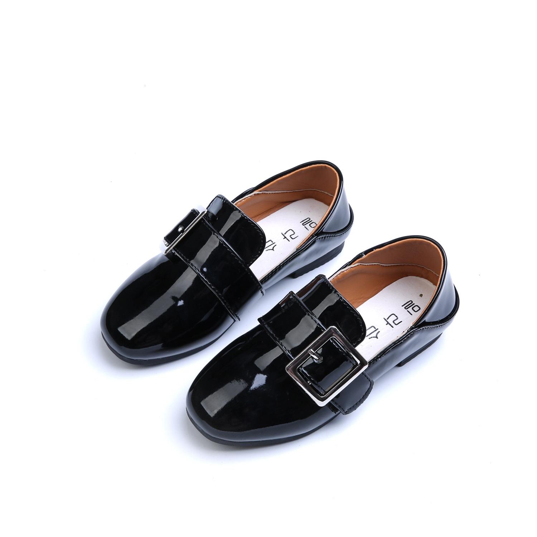 上新女童鞋春款2017新款儿童皮鞋亮皮公主鞋3-9岁男童单鞋5小孩子