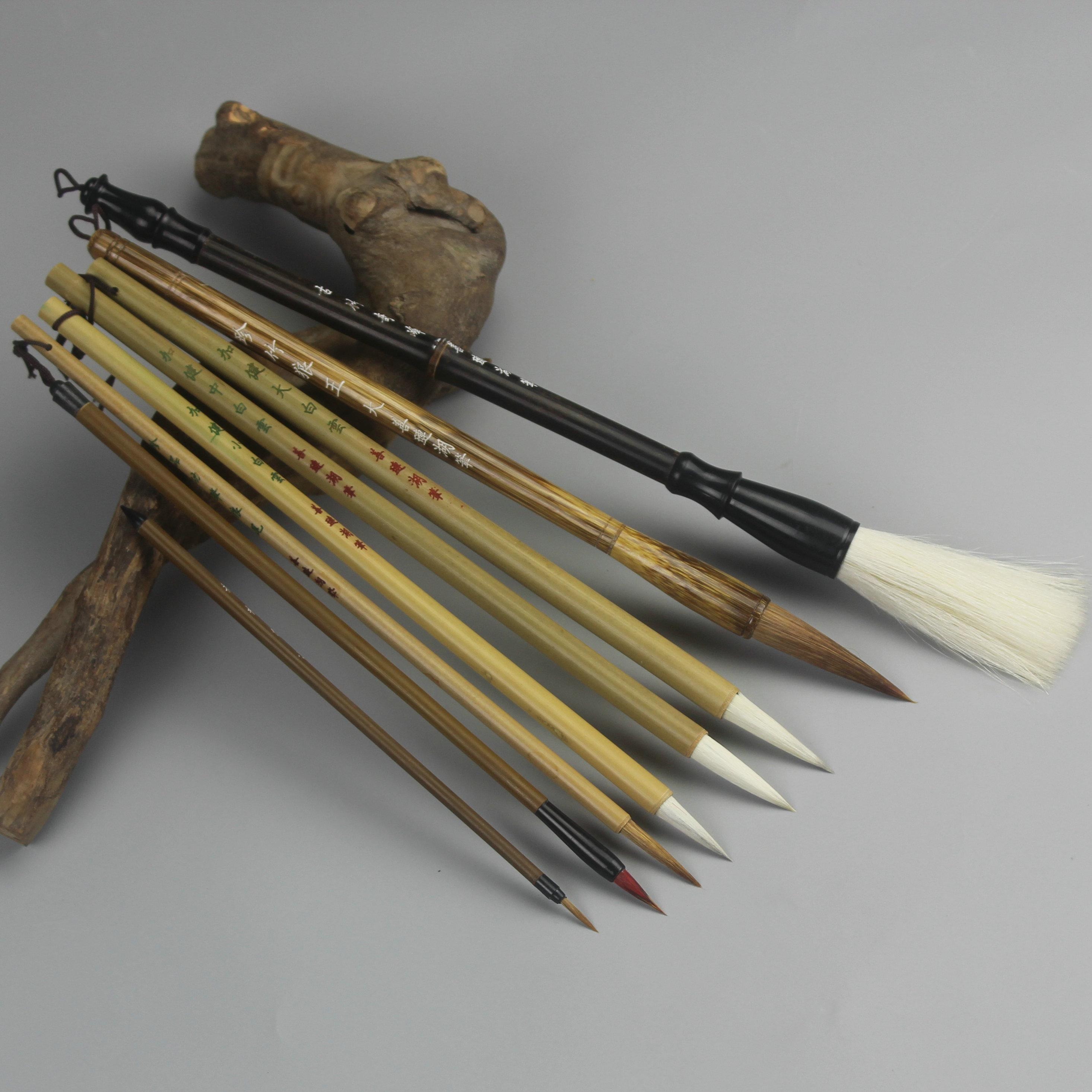 国画毛笔套装 工笔写意专用山水花初学工具 书法书画用品湖笔