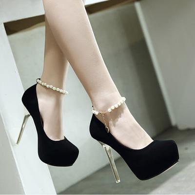 一字扣十二月公分12CM超高跟鞋12厘米夜店细跟女凉鞋浅口