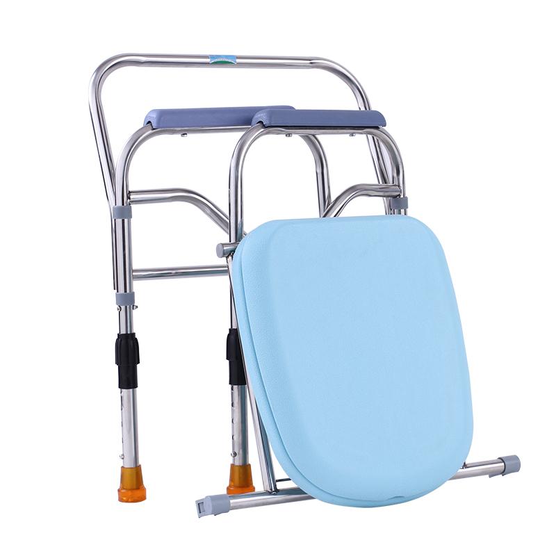 家用瘫痪大便加大加厚坐便器老人折叠专用中老年活动坐便凳坐椅